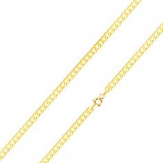 Lesklá retiazka v žltom 14K zlate - ploché, sériovo napájané očká, 500 mm