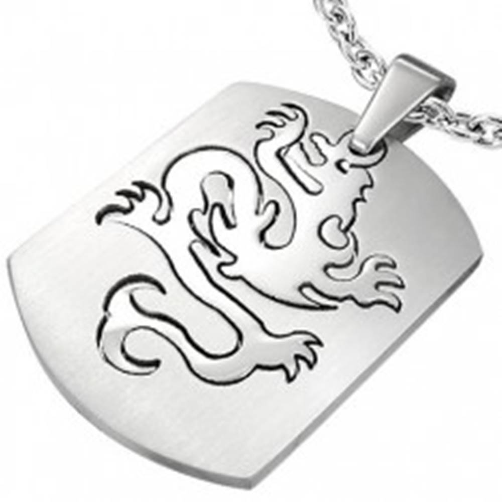 Šperky eshop Prívesok z ocele známka - Dragon
