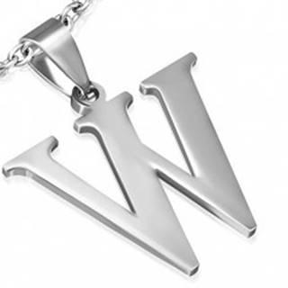 """Prívesok z ocele - písmeno """"W"""""""