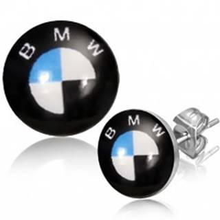 Puzetkové oceľové náušnice - logo automobilovej značky