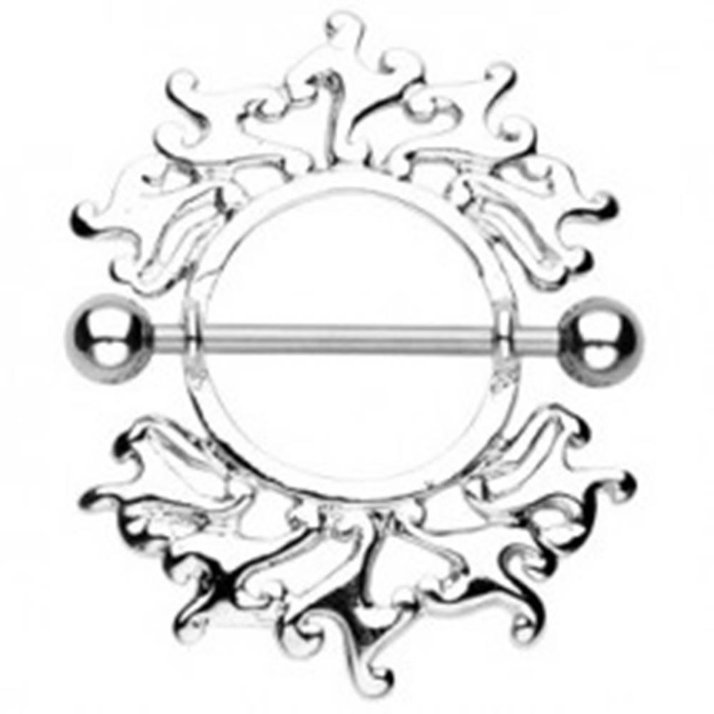 Šperky eshop Piercing do bradavky s ornamentom - 2 kusy