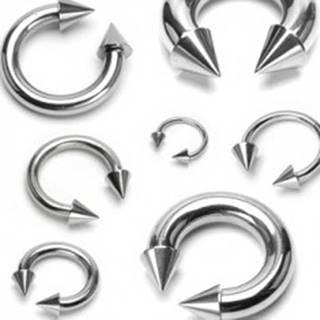 Piercing z chirurgickej ocele, podkova s hrotmi - Rozmer: 1,2 mm x 10 mm x 4x4 mm