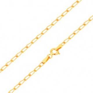 Zlatá retiazka 585 - lesklé ploché oválne očká, 550 mm