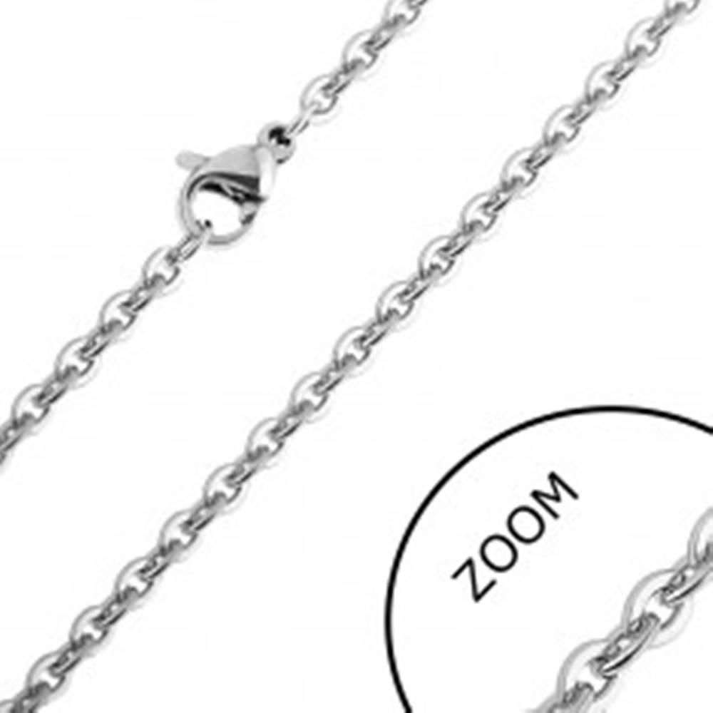 Šperky eshop Retiazka z chirurgickej ocele - ploché okrúhle očká