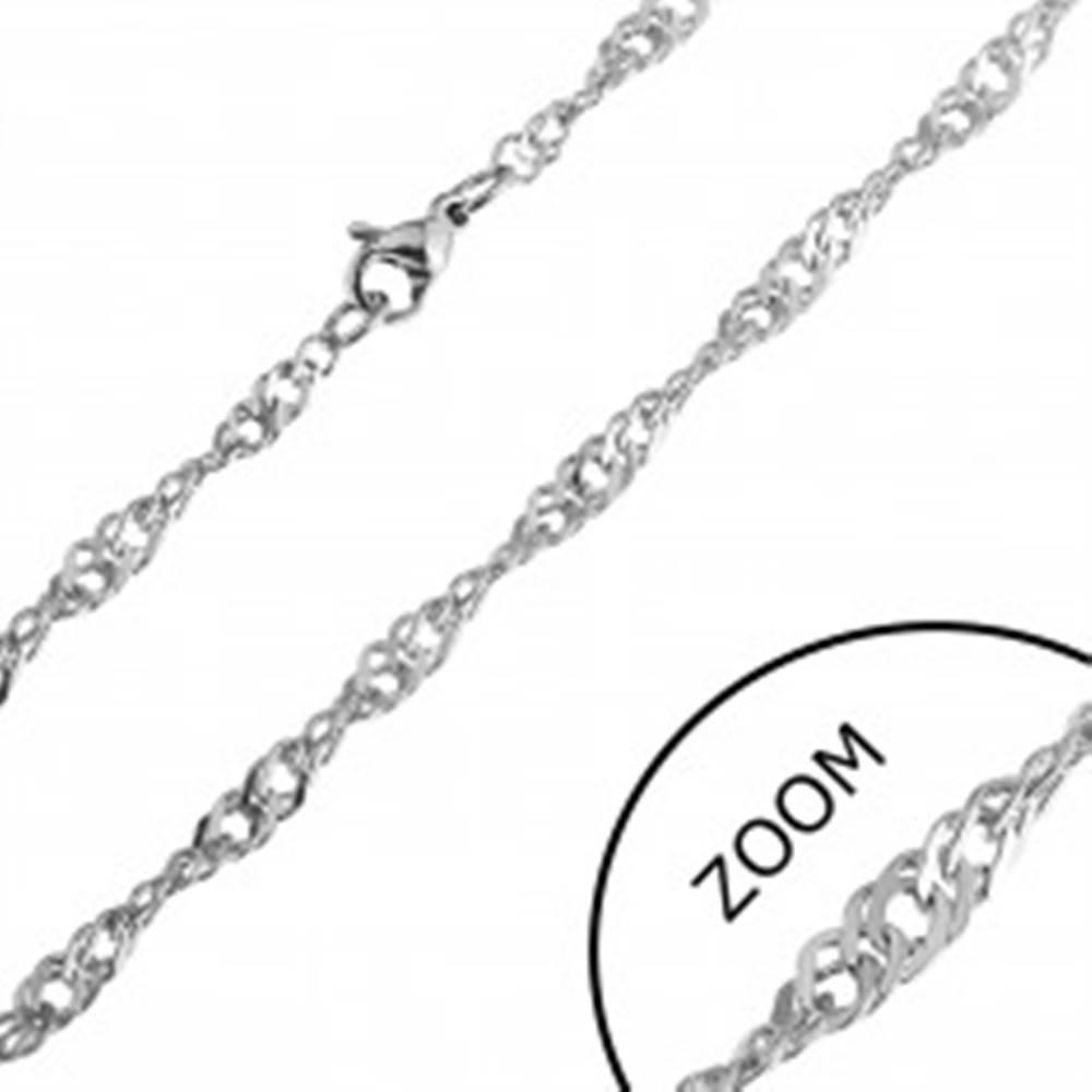 Šperky eshop Retiazka z nehrdzavejúcej ocele - jemné točené očká