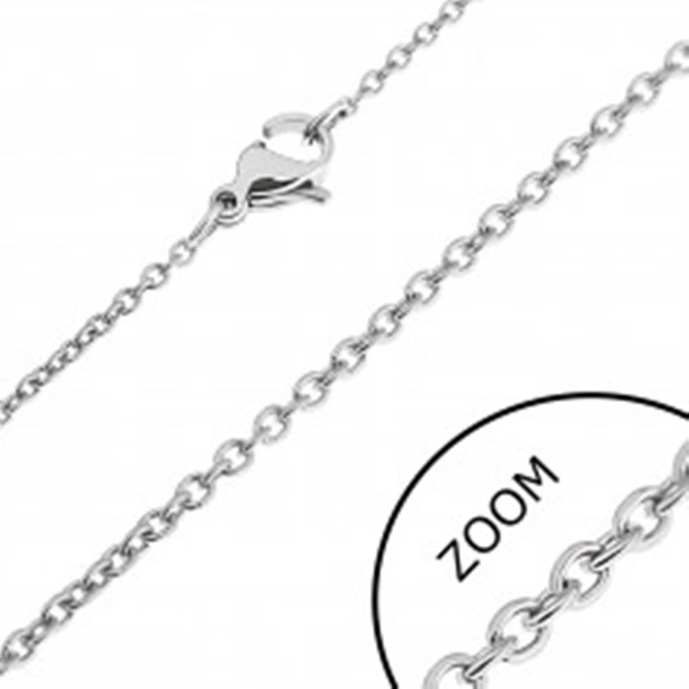 Šperky eshop Retiazka z ocele - kolmo schytené okrúhle očká - Hrúbka: 1.5 mm