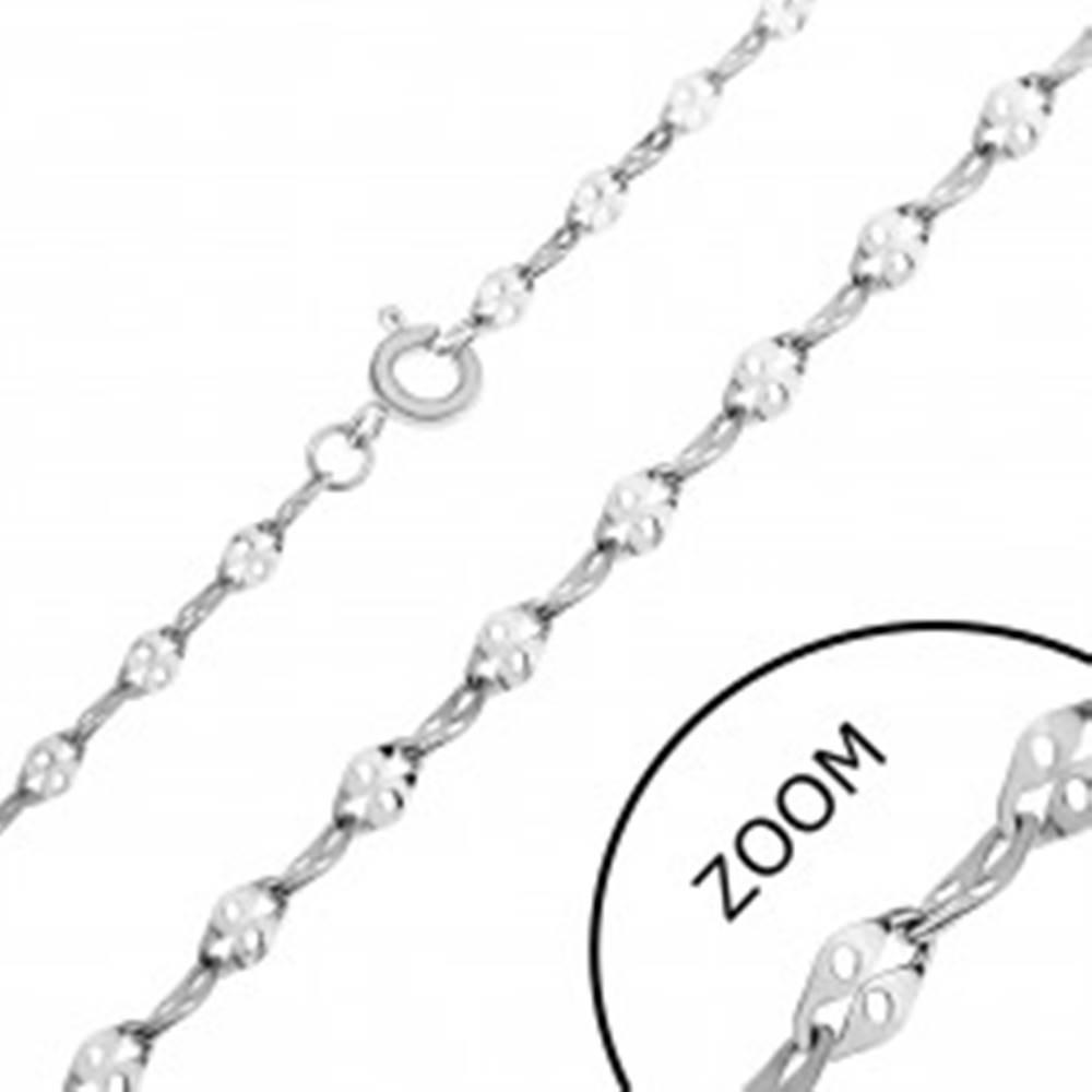 Šperky eshop Retiazka z ocele - sploštené očká s dierkou