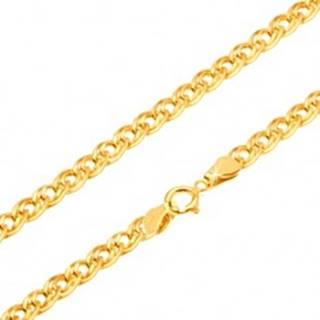 Zlatá retiazka 585 - trblietavé elipsovité väčšie a menšie očko, 550 mm