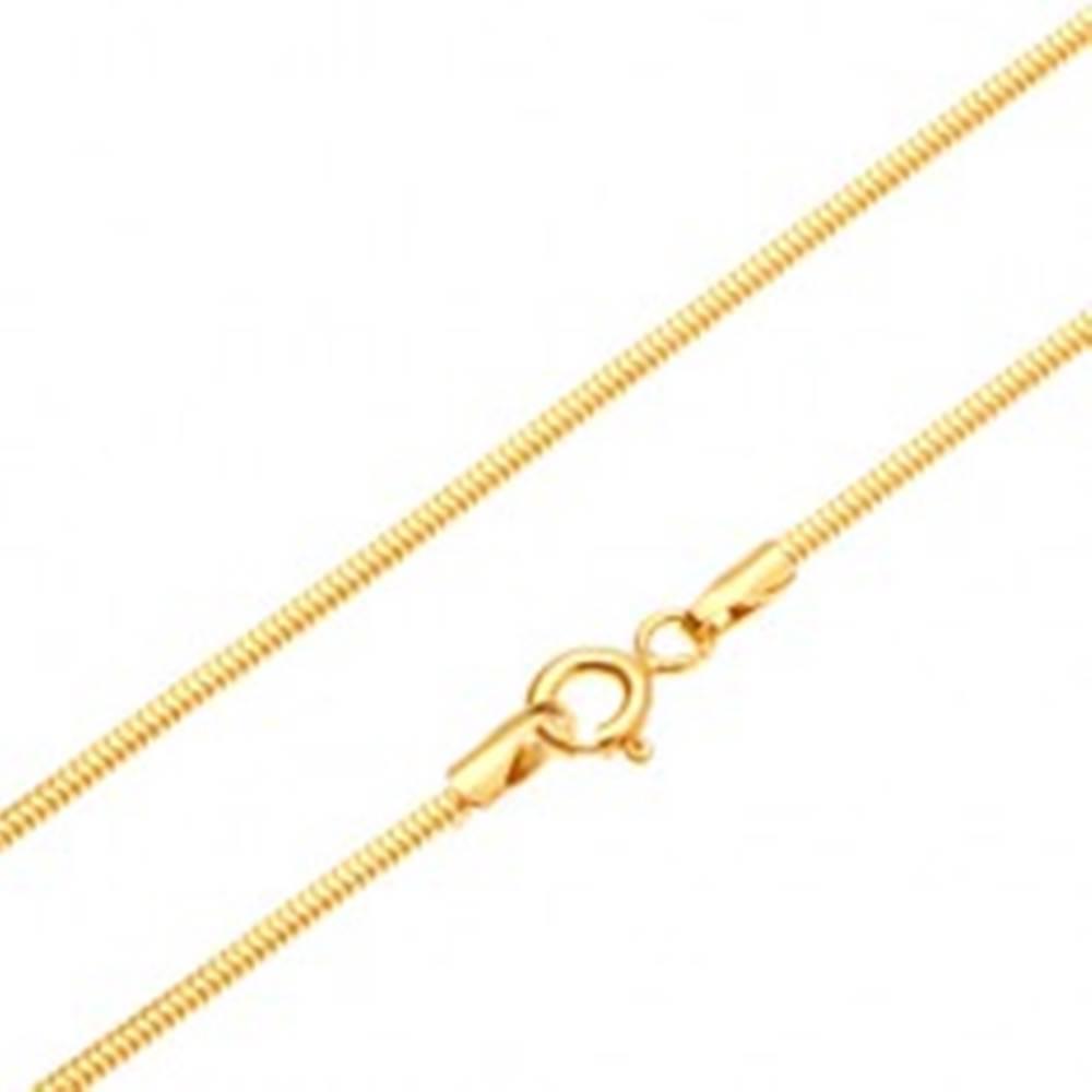 Šperky eshop Zlatá retiazka 585 - články usporiadané do vzoru hadej kože, 500 mm