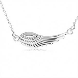 Strieborný náhrdelník 925, prívesok - anjelské krídlo s gravírovaním