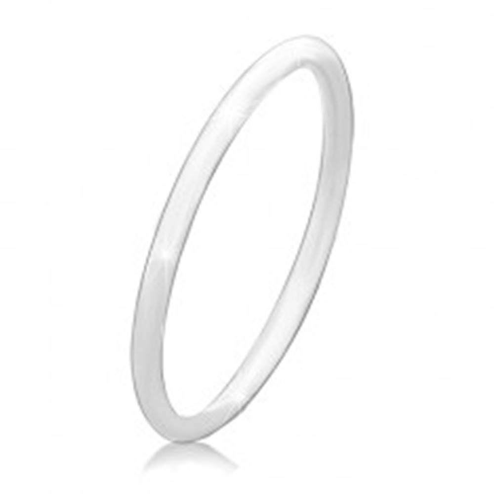 Šperky eshop Tenká obrúčka zo striebra 925, lesklý povrch bez vzoru - Veľkosť: 49 mm