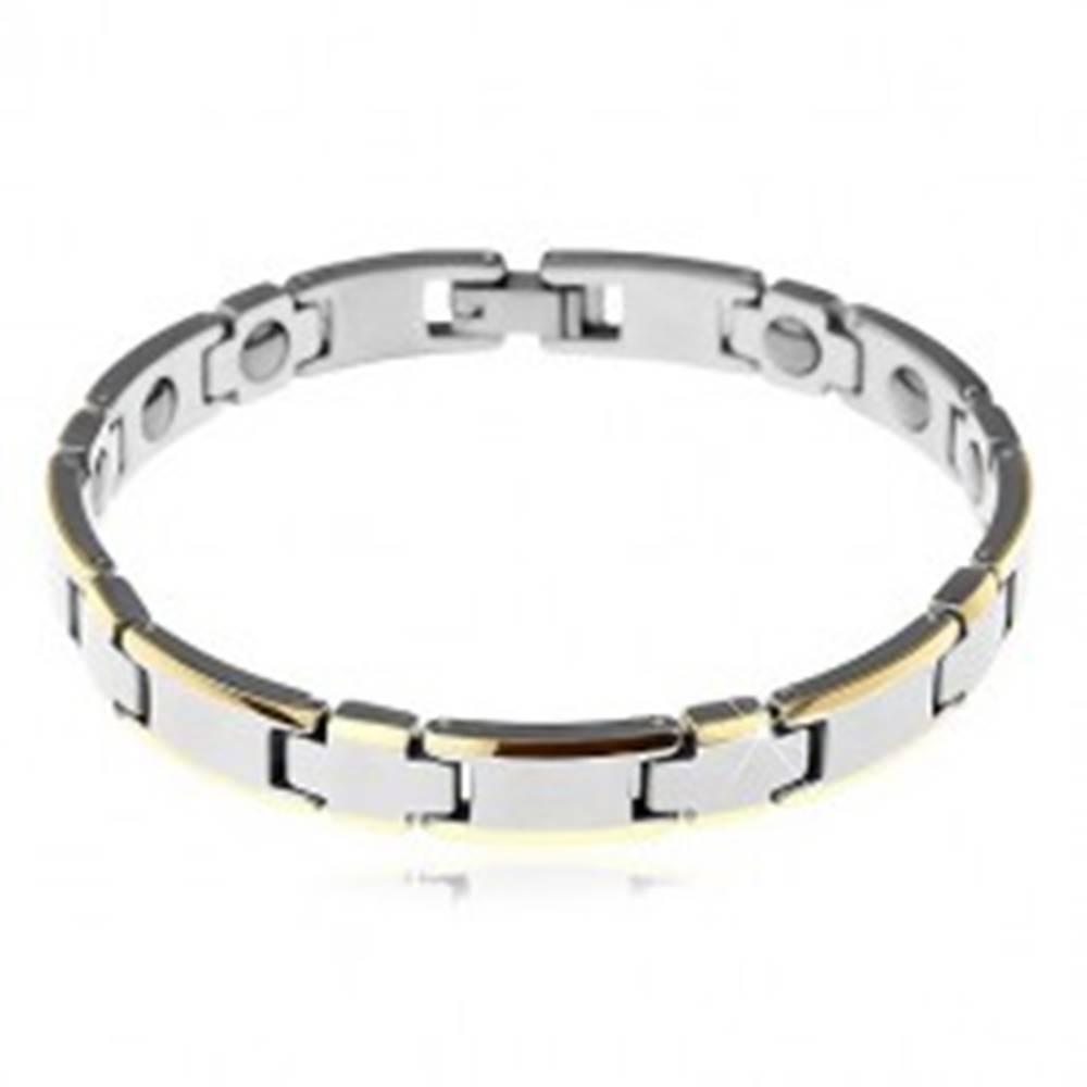 Šperky eshop Tungstenový náramok v dvoch farbách