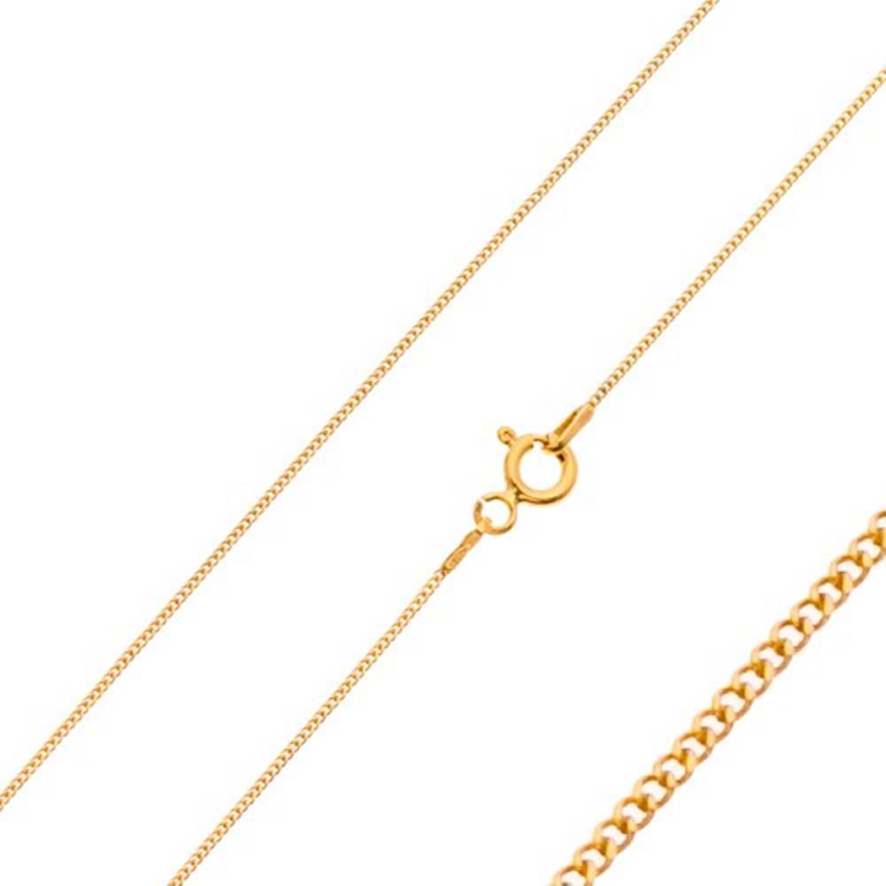 Šperky eshop Retiazka zo žltého 14K zlata - husto spájané drobné očká, 550 mm