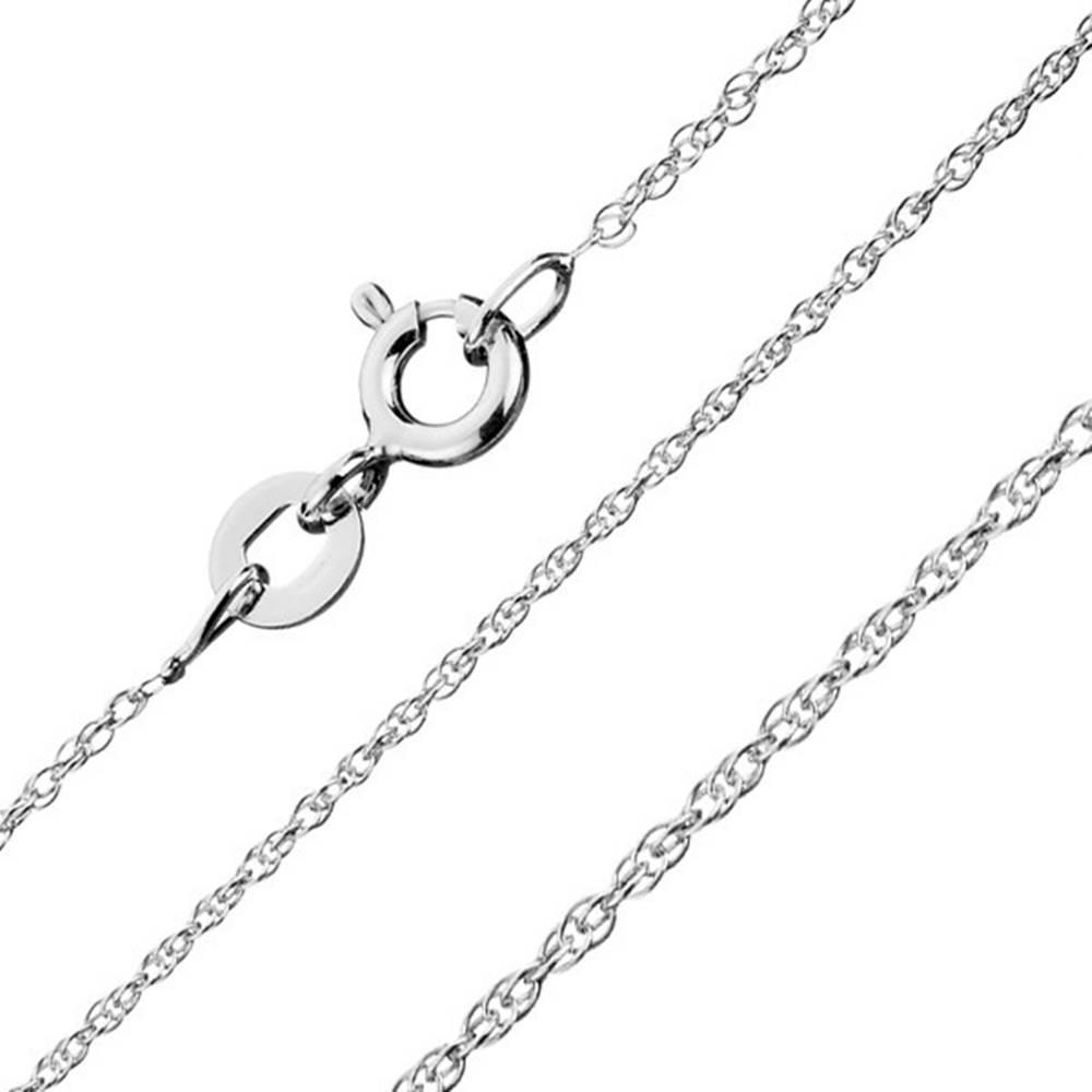 Šperky eshop Retiazka zo striebra 925 - zatočená línia, špirálovito spájané očká, šírka 1,3 mm, dĺžka 550 mm