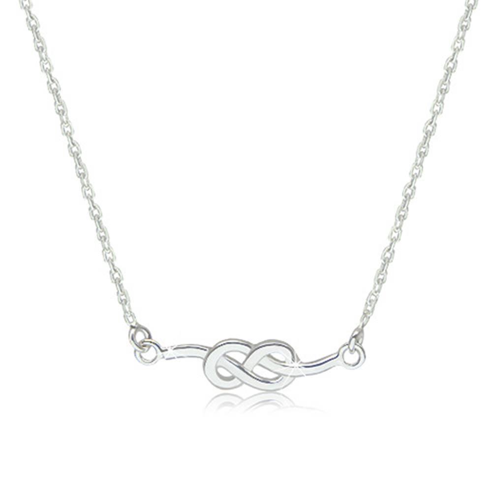 Šperky eshop Strieborný 925 náhrdelník - lesklý a hladký symbol nekonečna