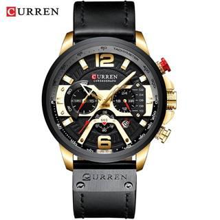 Hodinky Luxury CURREN-Čierna/Zlatá