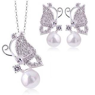 Set Pearl Butterfly - Strieborná