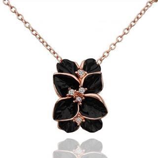 Náhrdelník Leaf Flower - Čierna