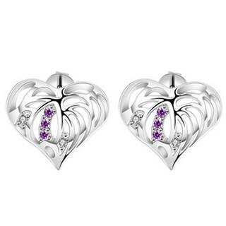 Náušnice Silver Heart-Strieborná