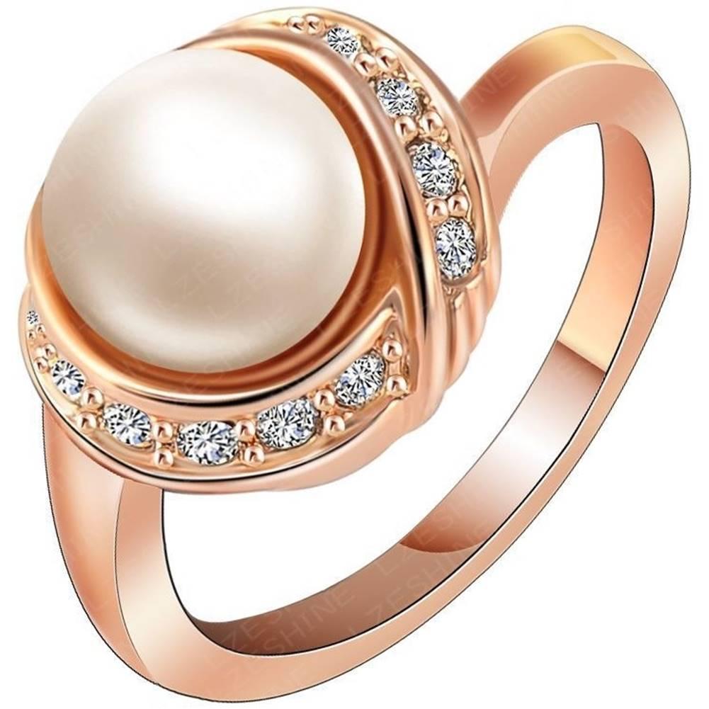 Izmael Prsteň Bridal Pearl - Zlatá / 55mm