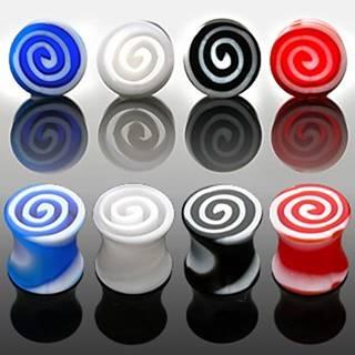 Plug do ucha - farebné špirály - Hrúbka: 3,5 mm, Farba piercing: Číra