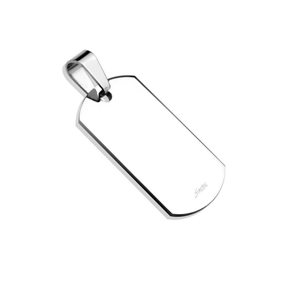Šperky eshop Prívesok z chirurgickej ocele - plochá známka s lesklým povrchom