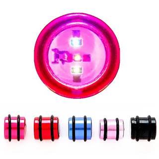 Blikajúci plug do ucha, rôzne farby a rozmery - Hrúbka: 12 mm, Farba piercing: Modrá