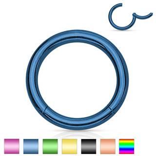 Oceľový piercing do nosa a ucha, jednoduchý lesklý krúžok, 1,6 mm - Hrúbka x priemer: 1,6 mm x 12 mm, Farba piercing: Medená