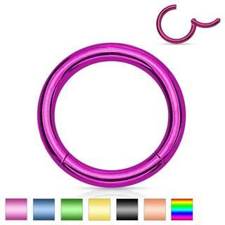 Piercing do nosa a ucha, oceľ 316L, jednoduchý lesklý krúžok, rôzne farby - Hrúbka x priemer: 1,2 mm x 10 mm, Farba: Zlatá